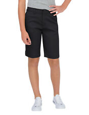 "DICKIES GIRL BLACK TOMBOY SHORT 4 POCKET CLASSIC MID RISE 13"" STRETCH Size 0 -15"
