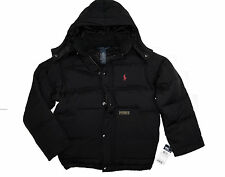 NWT RALPH LAUREN POLO BOULDER BLACK BOY DOWN JACKET WINTER COAT sz 4 5 6 7 8-20