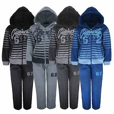 KIDS TRACKSUIT JOGGING BOTTOM & HOODED TOP 62 FASHION PRINT 3-12 YEARS