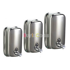 Stainless Steel Lotion Pump Soap Bathroom Wall Mounted Shampoo Dispenser RSUS