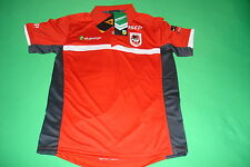 St George Illawarra Dragons 2014 Red Players Polo Shirt XS - Large NRL ISC SALE