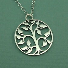 Large Tree of Life Necklace 925 Solid Sterling Silver Jewelry Pendant Handmade