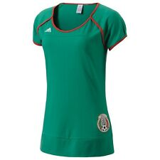 Adidas Women Mexico FMF Women's Official Team Tee - Many Sizes Green/Red Z24377