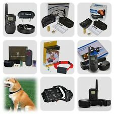 Rechargeable LCD Remote Electric Dog Training Collar E-Collar Trainer Anti Bark