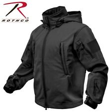 Black Military Special OPS Tactical Soft Shell Jacket w/Waterproof Shell 9767