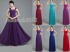 New Long Chiffon Bridesmaid Party Prom Ball Evening Gowns Dress Size 6-18+custom