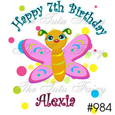 cute butterfly Birthday Girl Name Age Personalized Shirt 1st first 2 3 4 girl 5