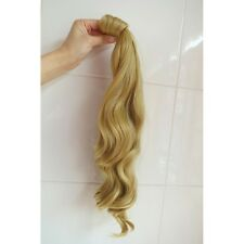 "Long Wavy Curly Wrap around Ponytail Hair Piece Extensions 18"" 45cm + Bobby Pin"