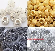 20pcs Zinc Alloy Metal Mesh Spacer Beads for Basketball Wives Earrings 12mm