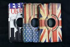 "Retro 360 rotating flip leather case cover For Samsung Galaxy Tab 3 7"" Note 10.1"