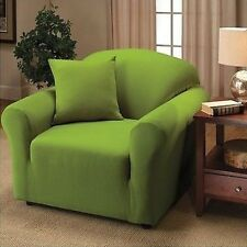 LIME JERSEY CHAIR STRETCH SLIPCOVER, COUCH COVER, FURNITURE CHAIR COVER