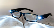 BLACK READING FASHION GLASSES WITH BRIGHT LED LIGHTS ATTACHED PICK LENS TY6729