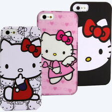 Case for Apple iPhone 5 S 5S Hello Kitty Skin Holster Cover Pouch Snap on