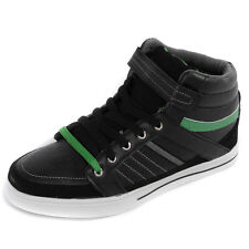 Mens Mercury Synthetic Leather Hi Top Black/Green Fashion Trainers Shoes Mens Si