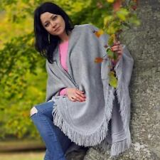 BABY ALPACA WOOL PONCHO CAPE WRAP SHAWL COAT HANDMADE IN ECUADOR