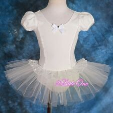 Puff Sleeves Ballet Tutu Girl Dance Costume Pageant Fairy Dress Up Size 2T-8 035