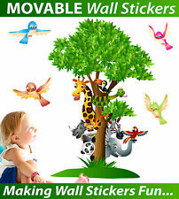 Jungle Animals Tree Wall Stickers - TOTALLY MOVABLE - BUY NOW!