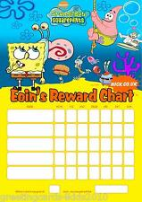 Personalised Spongebob Reward Chart & Pen - with or without photo