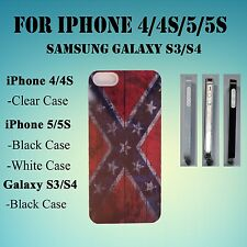 Confederate Flag Rebel Flag South iPhone 4/4S/5/5S Galaxy S3/S4/S5 Case (60)