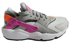 NEW NIKE AIR HUARACHE WOMENS TRAINERS LIGHT BASE GREY ORANGE PINK 634835-058