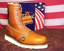 """Men's THOROGOOD 8"""" Made in USA Plain Toe Safety Toe Shoes 804-4364 Boots"""