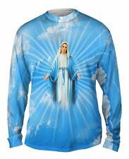 """Yizzam - """"Blessed Virgin Mary""""-  New Mens Long Sleeve Shirt"""