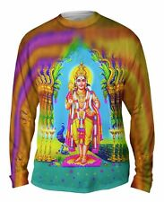 "Yizzam - India - ""Muruga Hindu God""-  New Mens Long Sleeve Shirt"