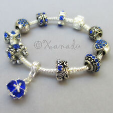 September Birthstone Blue Sapphire European Charm Bracelet For Sept Birthdays