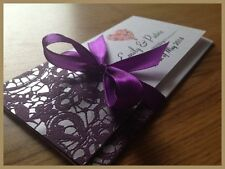 Personalised Wedding Day Evening Invitations Invites + Envelopes ★★★ SILVER2 ★★★