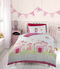 Fairy Castle Toddler Single Bedding Duvet Curtains Light Shade Rug Bedroom Range