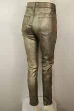 NWT JOE'S JEANS METALLIC SKINNY 100% LAMB LEATHER JEANS SIZE W 29 $595