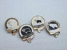 Derby County 'From the Cradle to the Grave' Gilt Badge - Football Badge