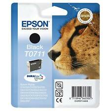 GENUINE EPSON STYLUS CHEETAH SERIES BLACK INK CARTRIDGE - T0711 / C13T07114011