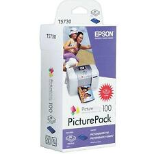 GENUINE EPSON PICTUREMATE 100 PICTUREPACK INK & 135 SHEETS OF PHOTO PAPER T573