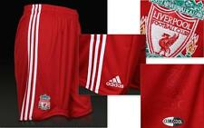 OFFICIAL RED ADIDAS LIVERPOOL FC 2010-12  BOYS FOOTBALL SHORTS BNWT RRP £24.99