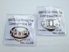 LUTON TOWN V DERBY COUNTY 3RD ROUND 1946 CUP SERIES LIMITED EDITION PIN BADGE