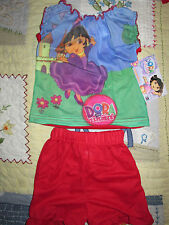 Nickelodeon Dora the Explorer Girls Pajamas PJ's Top & Short Set NWT