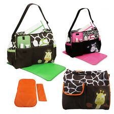 Multi Function Baby Diaper Nappy Changing Bag Changing Mat Mummy Tote Handbag