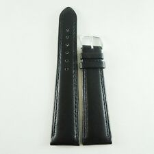 16MM 18MM 20MM Black Plain Genuine Leather High Quality Watch Strap Band