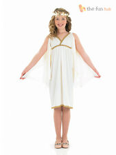 Girls Greek Goddess Costume Roman Toga Fancy Dress Athena Child Kids Outfit