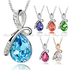 Magic Castle Crytal Pendant Necklace Birthday Xmas Valentine Gift for Her PA302
