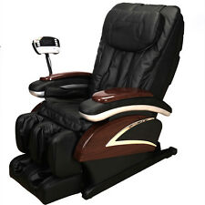 Electronic Full Body Massage Chair Shiatsu Recliner W/Heat Stretched Foot Rest