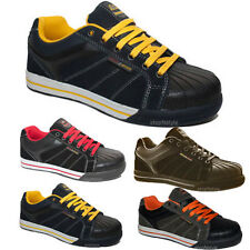 MENS GROUNDWORK SAFETY SHOES STEEL TOE CAP LACE UP WORK TRAINERS BOOTS