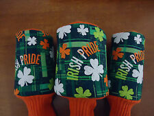 Irish Pride Clover Golf Headcover OR Headcovers U Pick Your Size X #1 #3 or #5