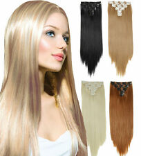 "Cheap 8PCS 80G 100% remy human hair clip-on in extensions 16""20""24""  On Sale ^-^"