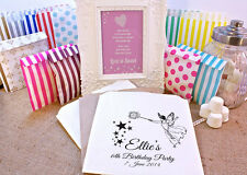 Personalised Sweet Bags BIRTHDAY FAIRY Candy Cart Wedding Favours Confetti Engag