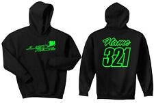 JUST RIDE MOTOCROSS HOODIE SWEAT SHIRT JUMPER MX RACE DIRT BIKE NUMBER PLATE