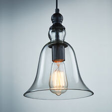 Vintage American Country Style Household Glass Pendant Light Bed Study Wall Lamp