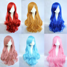 New Adult Fashion Girl Colors Long Wavy Curly Hair Cosplay Wig Party Colors 1891