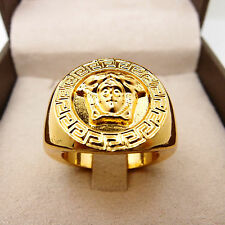 Men Jewelry Hip Hop 14K Yellow Gold Filled Crystal Men's Ring R40 9#-11#